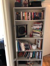 White wood book case