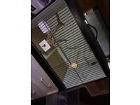 Single wooden bird breading cage with nesting box