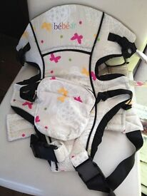 gorgeous floral baby carrier