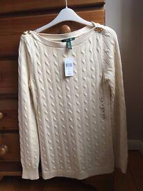 Jumper - Brand new Ralph Lauren jumper, 100% cotton. Size M £20