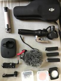 Dji Osmo 4K Camera and accessories