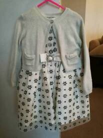 Girls age 2-3 dress and cardigan