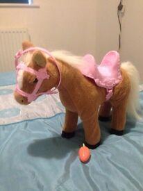 Baby born interactive potty & horse