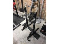 Bench press/squat stands