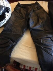 Ladies Alpine Stars Leather Motorbike Trousers (size 12)