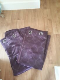 2 pairs of purple curtains. 54 inches wide. 90 inches drop.