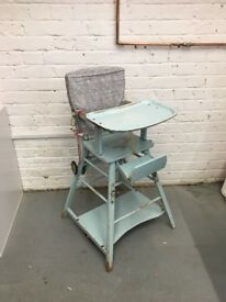 Vintage wooden baby chair