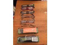 9 sets of reading glasses