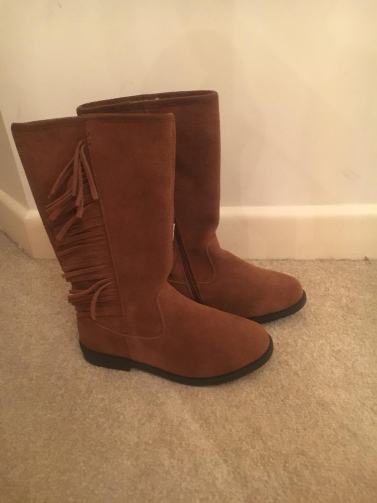 Tan long boots Next size uk 13