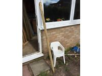 20 Wooden Stakes approx 170cmx6cm round