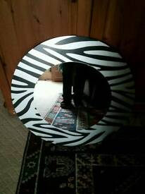 Zebra print mirror