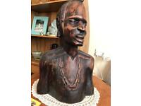 Solid wood Hand carved African figure