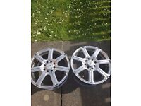 15 inch alloys and 2 tyers
