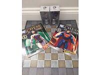 DC CHESS - SUPERMAN CHESS PIECE, WONDERWOMEN CHESS PIECE & DC CHESSBOARD