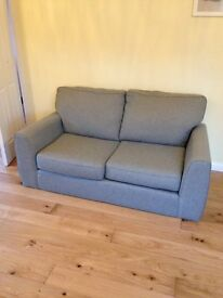 Grey two seater Next sofa (less than a year old)