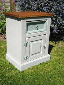 Corona Pine Shabby chic bedside cabinet