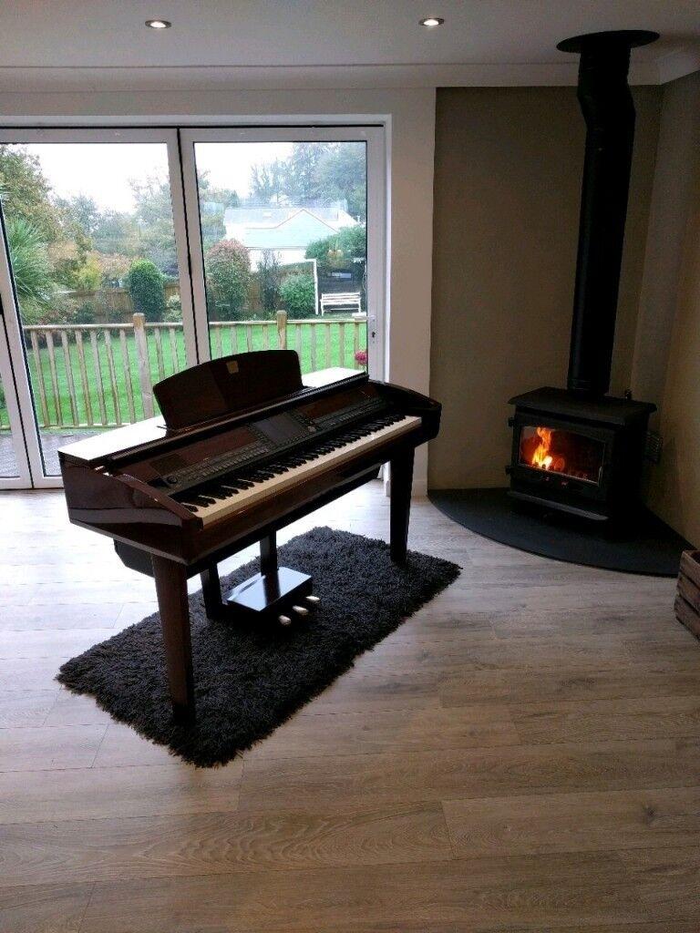 Yamaha clavinova cvp 409 pm polished mahogany beautiful for Yamaha clavinova cvp 409
