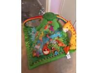 Fisher Price Rainforest Jungle Music Lights Deluxe Baby Gym Activity Play Mat