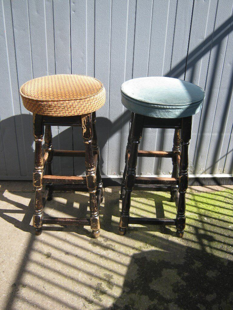 2 x pub bar stools breakfast bar man cave stools