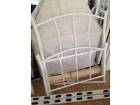 White metal single bed frame. Great condition