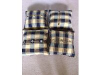 Cushion covers with feather pads x 4