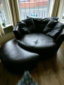 Leather spin chair sofa couch