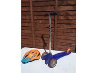 Mini micro scooter and fully adjustable MET helmet