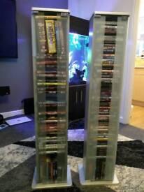 Modern DVD tower storage