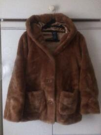 Gap Fur Jacket Size 12