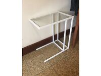 Glass End Table / Small Laptop Table