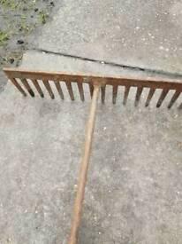Garden rake or tarmac