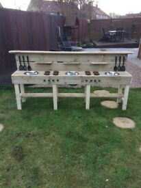 EXTRA LARGE KIDS/CHILDS OUTDOOR MUD KITCHEN £149 HANDMADE TO ORDER