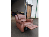 Electric recliner brown leather chair DELIVERY AVAILABLE