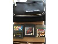 Game boy advance bag & games