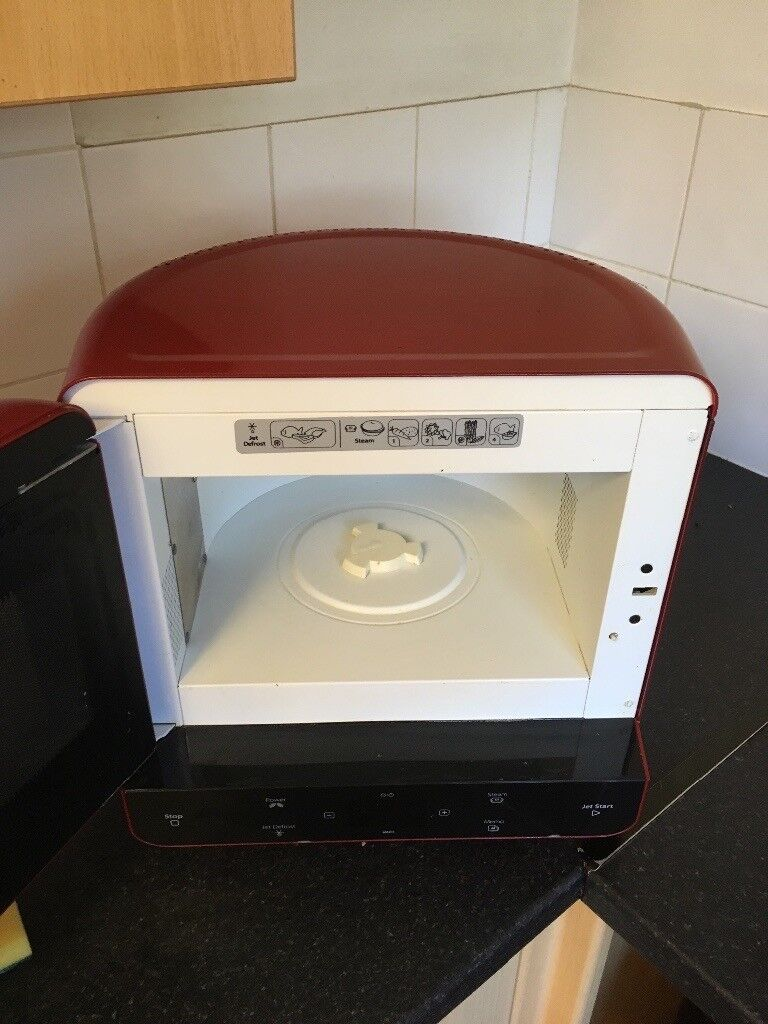 Whirlpool Red Microwave Oven Like New