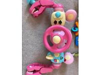 Baby pram an car seat toys
