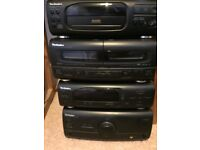 Technics stereo with CD player, radio and double cassette deck