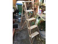 Nice set of vintage wooden ladders
