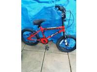 boys bmx 14inch red bike
