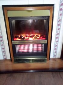 Complete fire. Instant heat. Dial control for flame display or one and two bars.