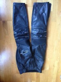 Alpinestars motorcycle gear with boots and gloves