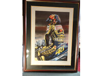 Limited Eidition Signed Valentino Rossi print