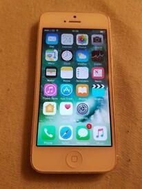 Apple i phone 5 white 16gb EE network