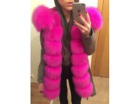 Brand new luxurious and stylish fox fur parka 3in1
