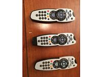 SKY remotes x 3, sold singly or all three together