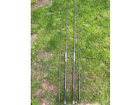 2 leeda obsession carp rods