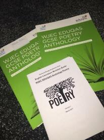 WJEC GSCE poetry anthology