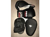 Boxing Gloves (Pro Power) and Punch Mitts (Tapout)