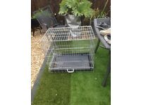 GALVANISED DOG CAGE
