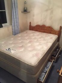 Silentnight King size wooden bed frame and mattress £110 ONO